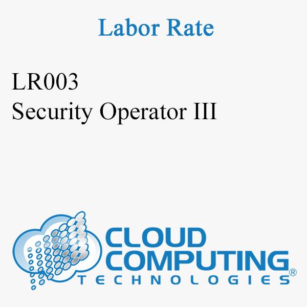 Security Operator III