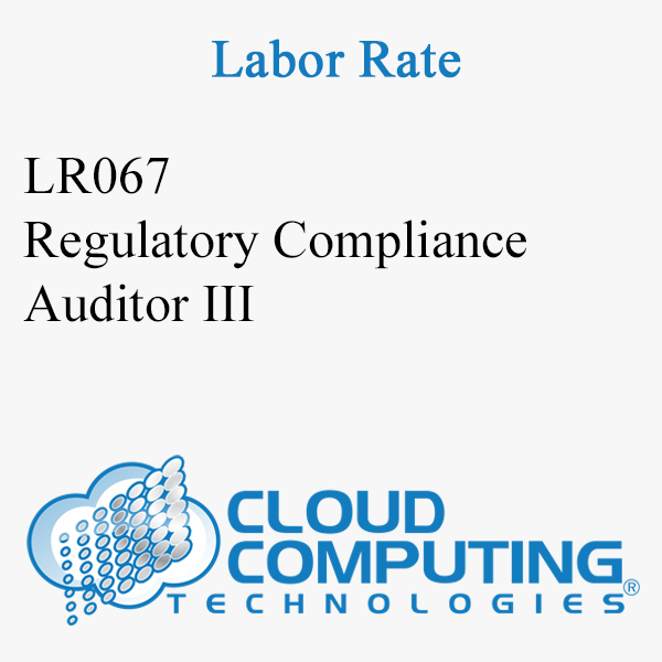 Regulatory Compliance Auditor III
