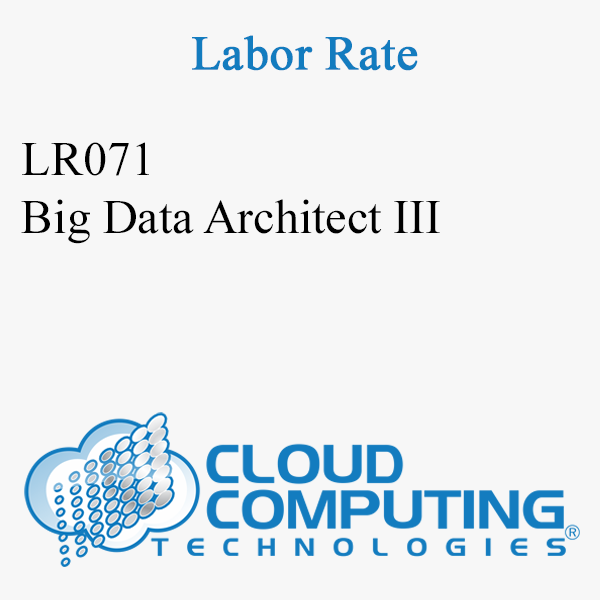 Big Data Architect III