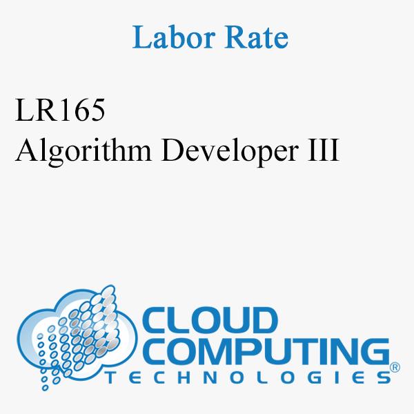 Algorithm Developer III